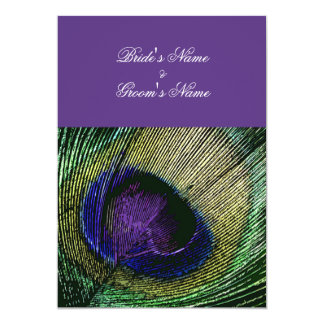 Peacock n purple wedding theme - Create your own 5x7 Paper Invitation Card