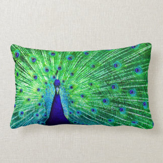 Peacock Neon Lumbar Pillow
