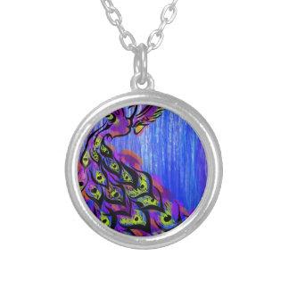 peacock nikhil shinde graphicartprint.jpg silver plated necklace