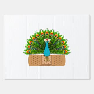 Peacock Nurse Lawn Sign