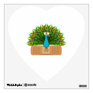 Peacock Nurse Wall Sticker