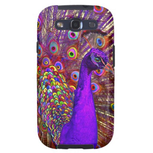 Peacock of a million colors samsung galaxy SIII cover