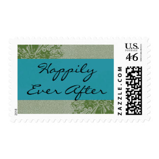 Peacock Olive Happily Ever After Stamp