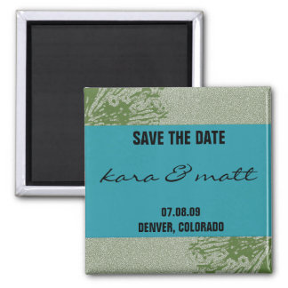 Peacock & Olive Save the Date Magnet