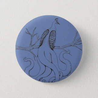 Peacock on a branch button