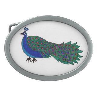 Peacock on Belt Buckle