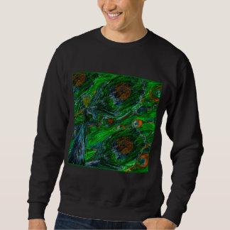 Peacock. On Black Sweatshirt