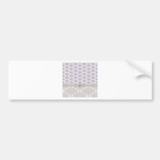 Peacock on Damask and Peacock Print Lavender Bumper Sticker