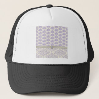 Peacock on Damask and Peacock Print, Lavender Trucker Hat