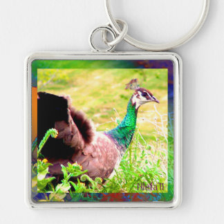 Peacock on Parade Keychain