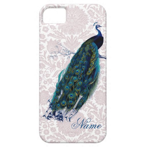 Peacock on Pink Damask iPhone 5 Case