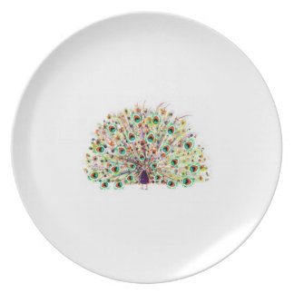 peacock on plates for the Kitchen