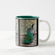 Peacock on Roof Mug