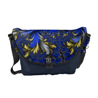 Peacock Ore 7 - Royal Blues/Golds/Silver Courier Bag