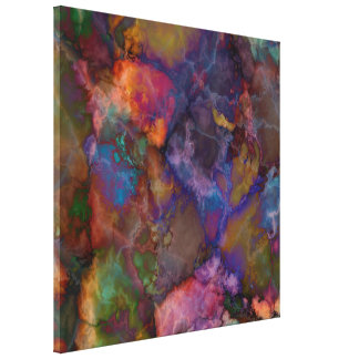 Peacock Ore Chalcopyrite Marble Canvas Print