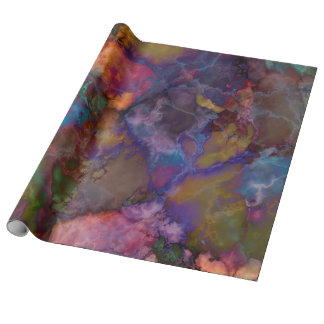Peacock Ore Chalcopyrite Marble Wrapping Paper