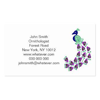 Peacock Ornithologist Business Card