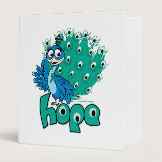 Peacock Ovarian Cancer 3 Ring Binder