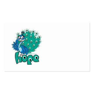 Peacock Ovarian Cancer Business Card