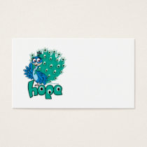 Peacock Ovarian Cancer Business Card