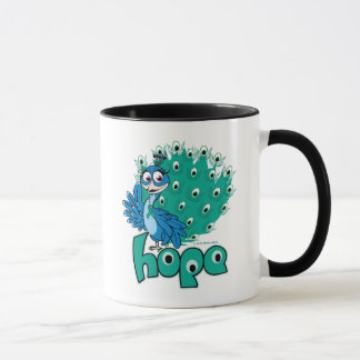 Peacock Ovarian Cancer Mug