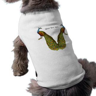 Peacock Pair Customizable Dog Shirt
