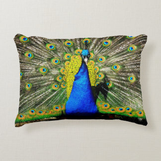 Peacock Paradise Accent Pillow