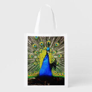 Peacock Paradise Reusable Grocery Bag