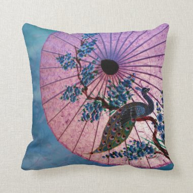 Peacock Parasol Pillow