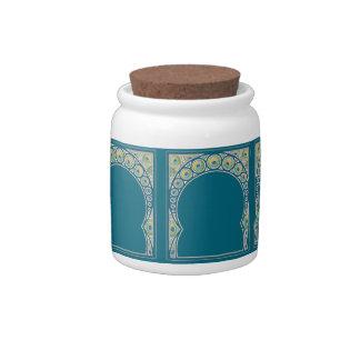 Peacock Pattern Candy Jar