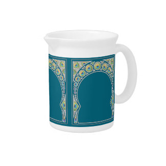 Peacock Pattern Pitcher
