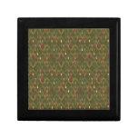Peacock Pattern Trinket Boxes