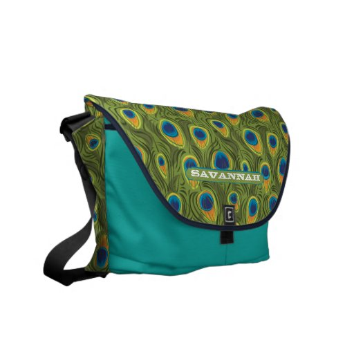 Peacock Pattern You Choose Colors Commuter Bags
