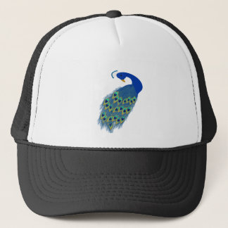 peacock peace and love trucker hat