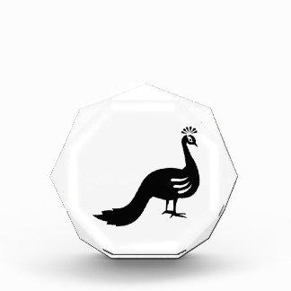 Peacock peafowl acrylic award