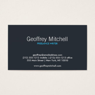 PEACOCK & PEBBLES Business Card