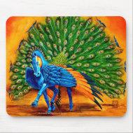 Peacock Pegasus mousepad