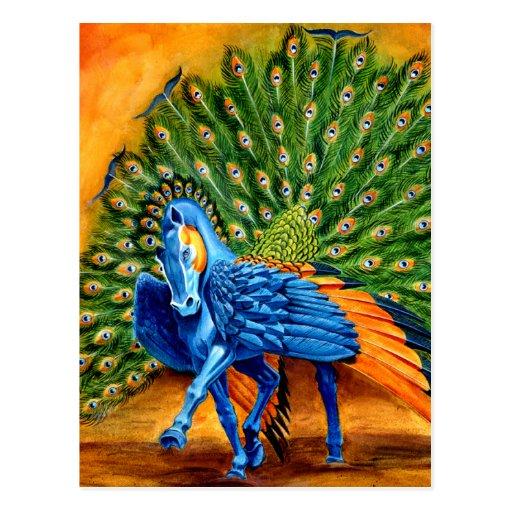 Peacock Pegasus Post Cards