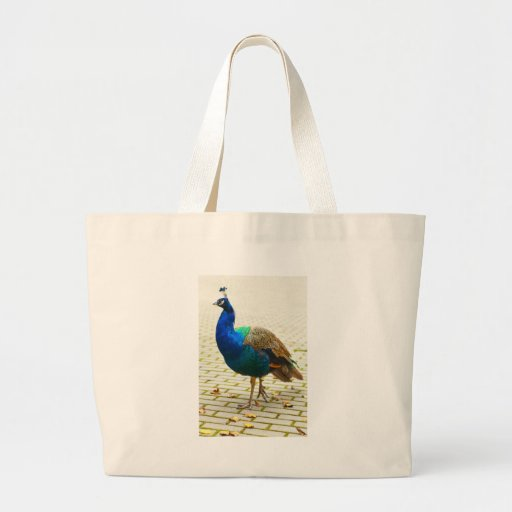 Peacock Photo Tote Bags