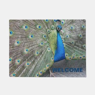 Peacock Photo Welcome Doormat