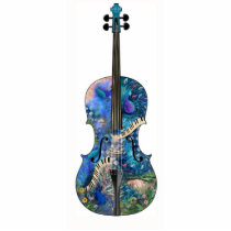 Peacock Piano Photo Sculpture Music Violin Cello