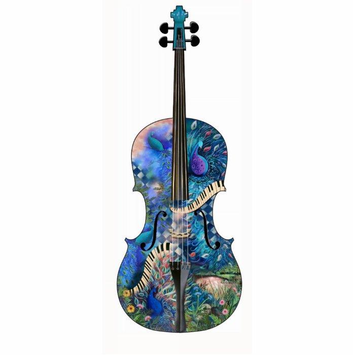Peacock Piano Photo Sculpture Music Violin Cello | Zazzle