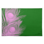 Peacock Placemat - Pink and Green