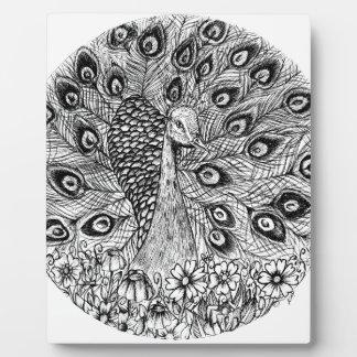 Peacock Plaque