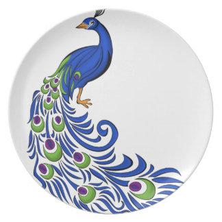 Peacock Platos Para Fiestas