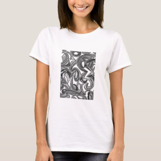 Peacock Plumage - Abstract Art Hand Painted T-Shirt