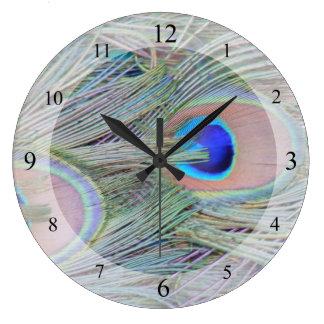 Peacock Plumage Clock