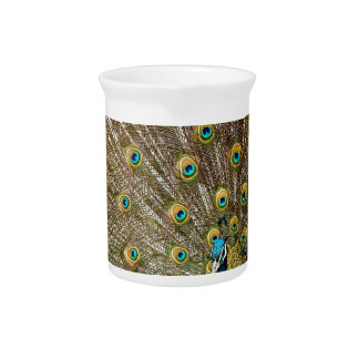 Peacock Plumage Drink Pitcher