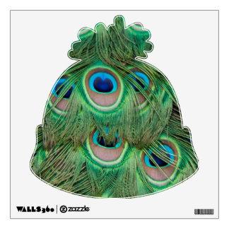 Peacock plumage wall sticker