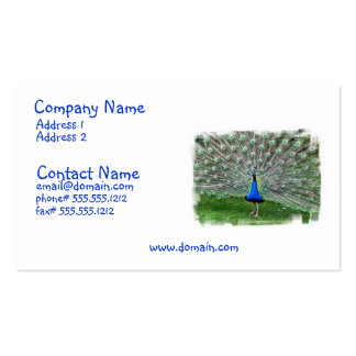 Peacock Plume Business Card